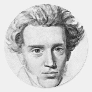 Filosoof Soren Kierkegaard Ronde Sticker