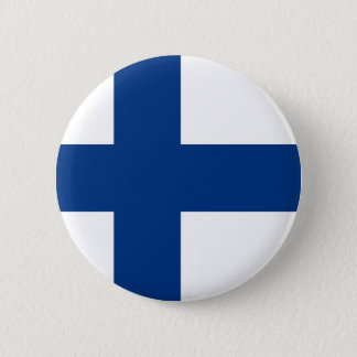 Finse Vlag op Knoop Ronde Button 5,7 Cm