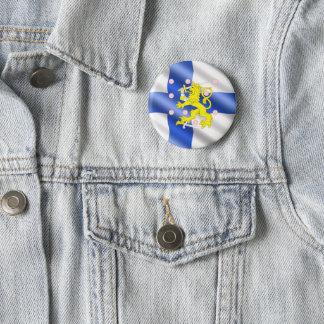 Finse vlag ronde button 5,7 cm