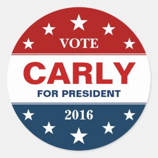 Fiorin van Carly 2016 Presidentiële Sterren van de Ronde Stickers