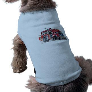firetruck doorsmelting mouwloos hondenshirt