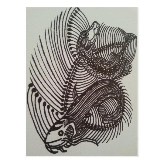 Fish bones briefkaart