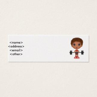 fitnessbuddie2, <name><address><email><other> mini visitekaartjes