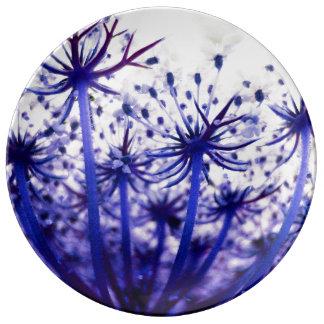 FʟᴏᴡPᴏᴡ   Wilde Lapis lazuli van de Wortel ~ Porselein Bord