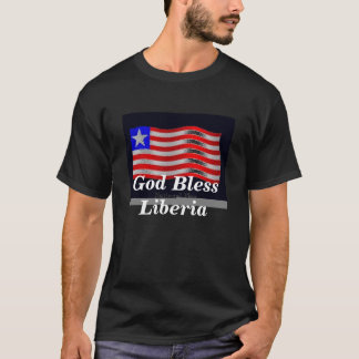 flag3, God zegen Liberia T Shirt