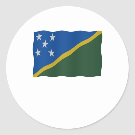 Flag Solomon Islands Ronde Sticker