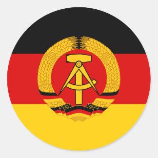 Flagge der Ddr - Vlag van Ddr (Oost-Duitsland) Ronde Stickers