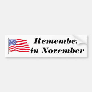 flags-american-waving-in-the_wind, Rememberin N… Bumpersticker