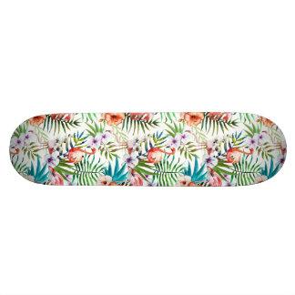 Flamboyant patroon van de de natuurtuin van de skateboards