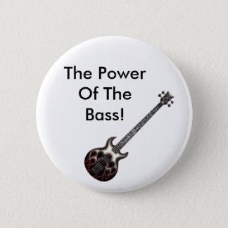 Flame_Bass, de Macht van de Baarzen! Ronde Button 5,7 Cm