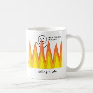 flamewars, het Met een sleeplijn vissen het Leven Koffiemok