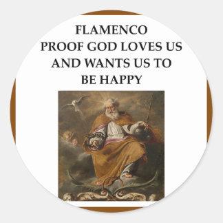 flaminco ronde sticker