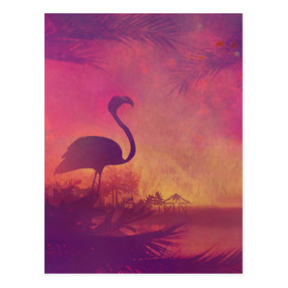 flamingo briefkaart