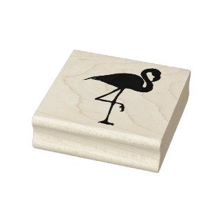 Flamingo - houten zegel rubberstempel