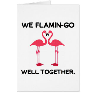 Flamingo Love Story Kaart