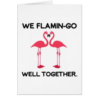 Flamingo Love Story Wenskaart