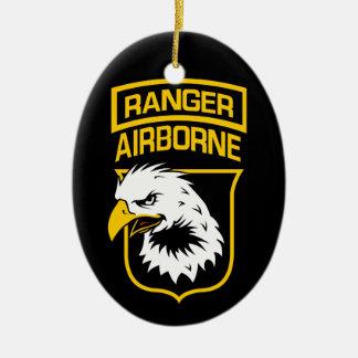 Flard het In de lucht van Eagle van de boswachter Keramisch Ovaal Ornament