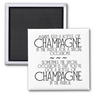 Fles Champagne in de Magneet van de Koelkast