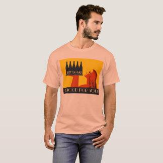 Fles-eau retro stijlart deco t shirt