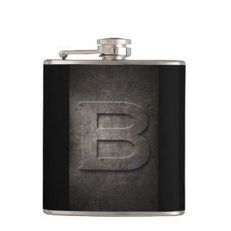 Fles van het Monogram van het Metaal B van het Heupfles