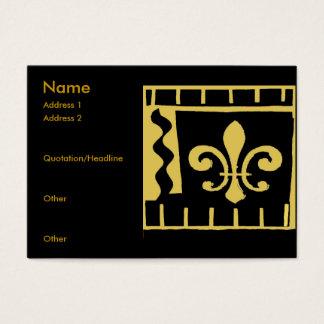 Fleur DE Lis Black en Gouden Tegels Visitekaartjes