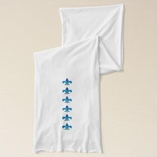 Fleur DE Lis Blue Sjaal Sjaal