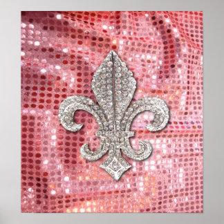 Fleur DE Lis Flor New Orleans het Poster van het J