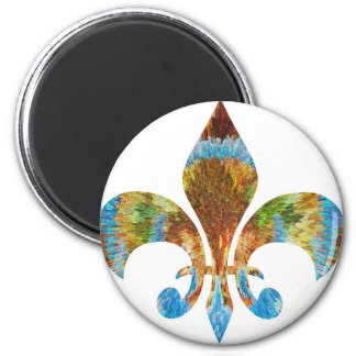Fleur DE Lis:  Het gouden Gegraveerde Zilver van n Koelkast Magneetje