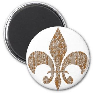 Fleur DE Lis:  Het gouden Gegraveerde Zilver van n Koelkast Magneten