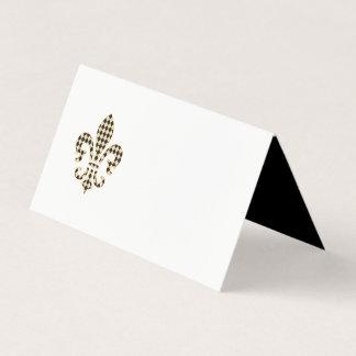 Fleur DE Lis met het Patroon van de Diamant Plaatskaart