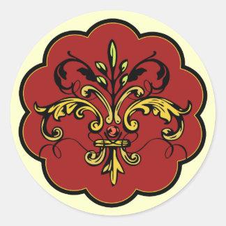 Fleur DE lis Xmas Ronde Sticker