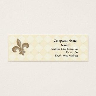 Fleur Di Lis Profile Kaart Mini Visitekaartjes