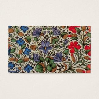 Fleurs van Mille - middeleeuwse bloemen Visitekaartjes