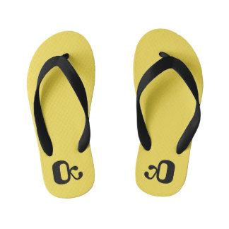 Flip-flops, kids yellow, summer shoes kinder teenslippers