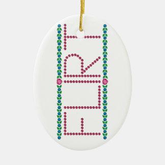 Flirt Keramisch Ovaal Ornament