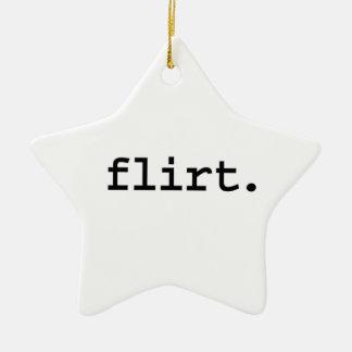 flirt keramisch ster ornament