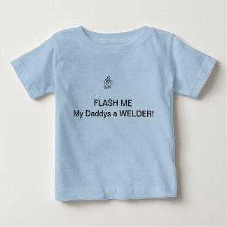 Flits me! Mijn Daddys een LASSER! Baby T Shirts