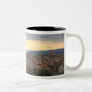 Florence, Cityscape. van Italië Tweekleurige Koffiemok