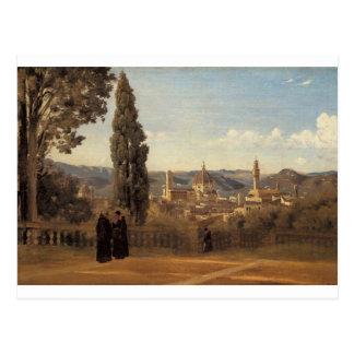 Florence, de Tuinen Boboli door Camille Corot Briefkaart