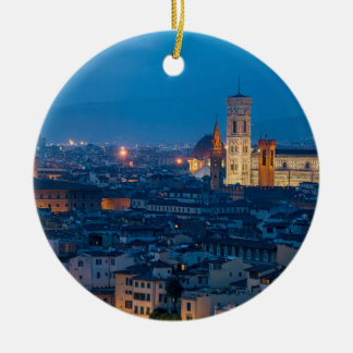 Florence Italië Rond Keramisch Ornament