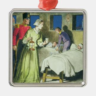 Florence Nightingale (1820-1910) van 'Piepgeluiden Zilverkleurig Vierkant Ornament