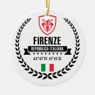 Florence Rond Keramisch Ornament