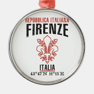 Florence Zilverkleurig Rond Ornament