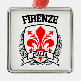 Florence Zilverkleurig Vierkant Ornament