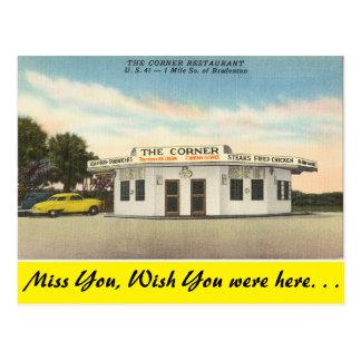 Florida, Bradenton, het Restaurant van de Hoek Briefkaart