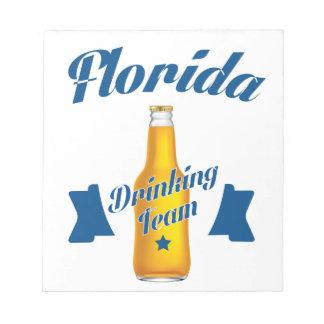 Florida die team drink notitieblok