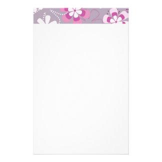 Flower power aangepast briefpapier