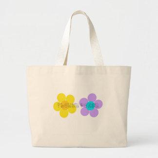 Flower power canvas tassen