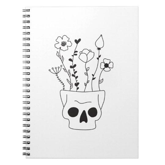 Flower Skull Notitieboek