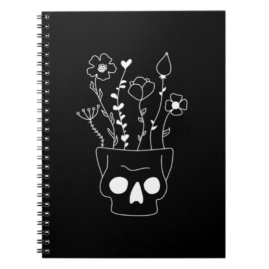 Flower Skull Ringband Notitieboek